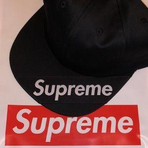 Supreme Visor Label 6 Panel Hat